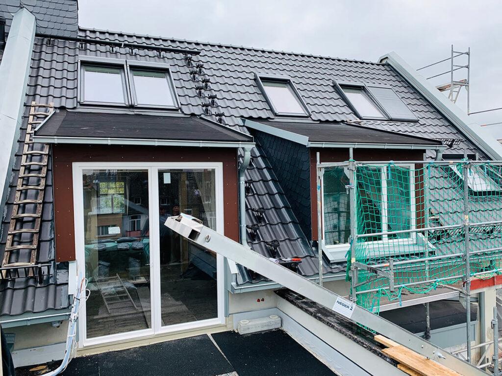 Denkmalgeschütztes Wohnhaus Mainz - Kompletter Dachaufbau mit Dachstuhl und neuer Eindeckung