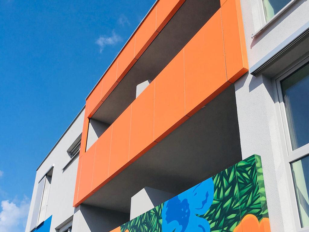 Wohnanlage Ingelheim - Fassadenelemente aus Alucobond